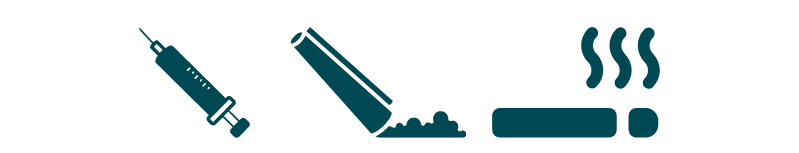 equipment for heroin use icon