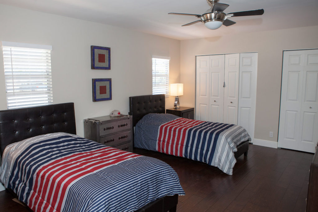bedroom at a florida recovery residence