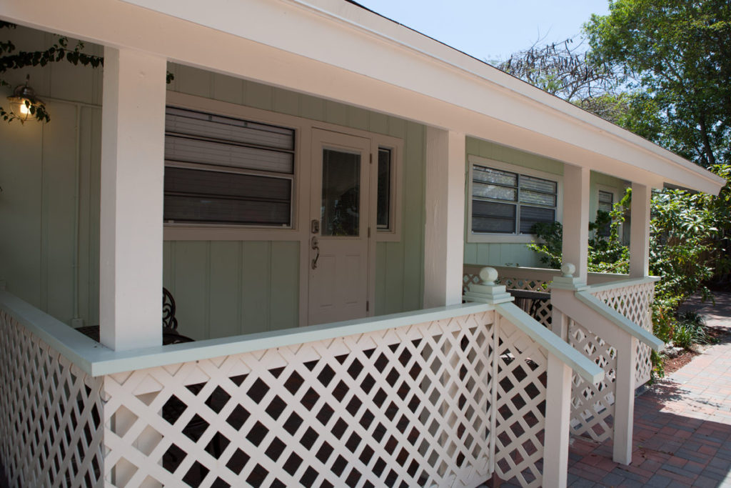 front porch at a sober home in Delray Beach