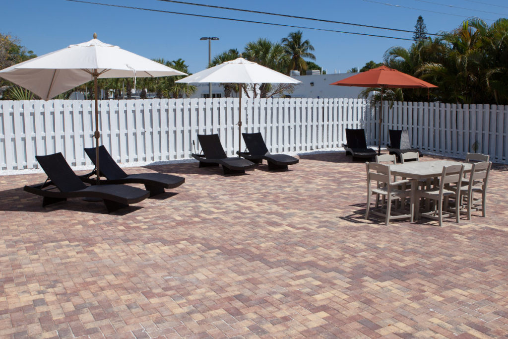 pool area at a sober living in Delray Beach