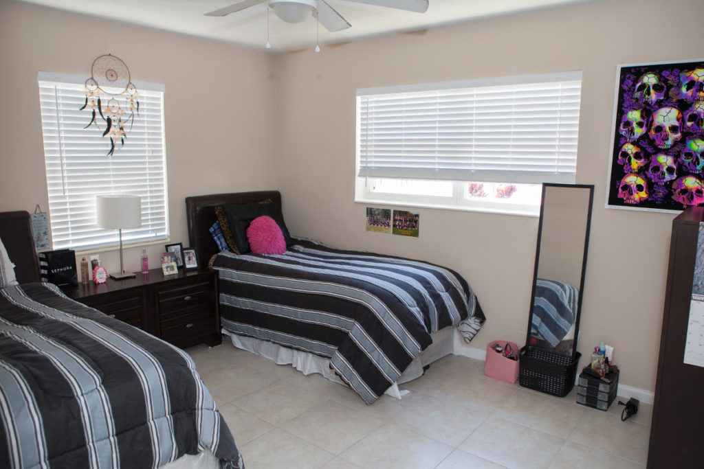 bedroom at sober living in South Florida